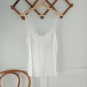 Abercrombie white lace cami